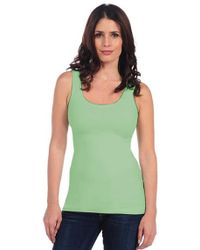 Tees by Tina - Smooth Tank In Celery - Lyst