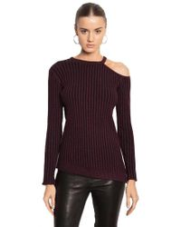 Feel The Piece - By Terre Jacobs Astor Top In Merlot & Black - Lyst