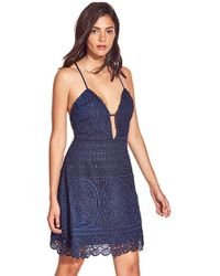 Lovers + Friends - Orchard Dress In Navy - Lyst