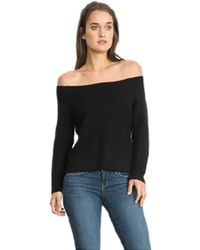 Feel The Piece - By Terre Jacobs Kerri Off The Shoulder Sweater In Black - Lyst