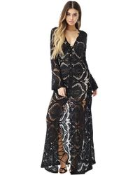 Sky Clothing Collection - Sky Takeshi Lace Maxi Dress In Black - Lyst