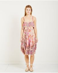 Spell & The Gypsy Collective - Siren Song Strappy Dress Flamingo - Lyst