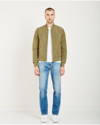 Closed - Reversible Bomber - Olive - Lyst