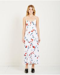 Just Female   Inge Floral Print Slip Dress   Lyst