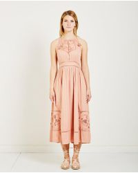 Ulla Johnson - Hania Floral Embroidery Dress - Lyst
