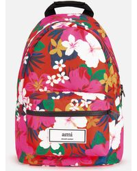 AMI - Zipped Backpack - Lyst