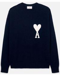 AMI - Oversized Ami De Coeur Sweater - Lyst