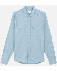 AMI - Snap Buttons Shirt - Lyst