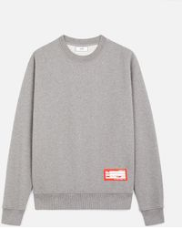 AMI - Sweatshirt With Patch Name Tag - Lyst