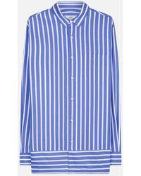 AMI - Striped Summer Fit Shirt - Lyst