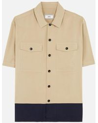 AMI - Camp Collar Chest Pockets Short Sleeves Shirt - Lyst