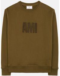 AMI - Crewneck Sweatshirt Big Ami Embroidered Patch - Lyst