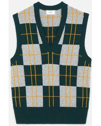 AMI V Neck Sleeveless Sweater