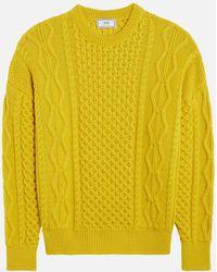 AMI - Irish Crewneck Oversize Sweater - Lyst