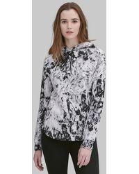 Andrew Marc - Long Sleeve Printed Hoodie Pullover - Lyst
