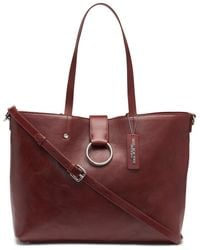 cf0687549fc0f4 Andrew Marc - Rochester Large Open Leather Tote With Centre Ring Flap - Lyst