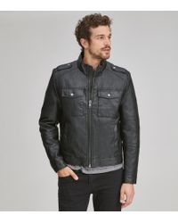 Andrew Marc - Bruckner Faux Leather Trucker - Lyst