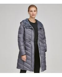 Andrew Marc - Brookdale Lacquer Faux Down Jacket - Lyst