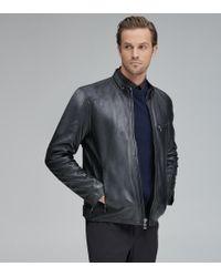 Andrew Marc - Weston Leather Moto Jacket - Lyst
