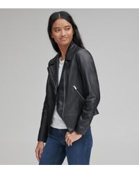 Andrew Marc - Bayside Leather Scuba Jacket - Lyst