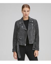 Andrew Marc - Bowery Suede Moto Jacket - Lyst