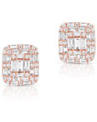 Anne Sisteron - 14kt Rose Gold Baguette Diamond Nina Earrings - Lyst