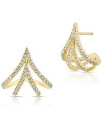 Anne Sisteron - 14kt Yellow Gold Diamond Valentina Earrings - Lyst