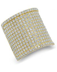 Anne Sisteron - 14kt Yellow Gold Diamond Luxe Roma Ring - Lyst