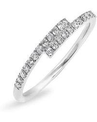 Anne Sisteron - 14kt White Gold Diamond Ridge Ring - Lyst