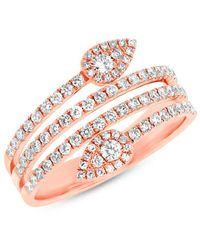 Anne Sisteron - 14kt Rose Gold Diamond Viper Ring - Lyst