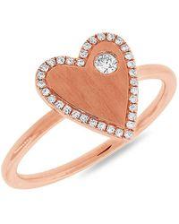 Anne Sisteron - 14kt Rose Gold Diamond Amorette Ring - Lyst