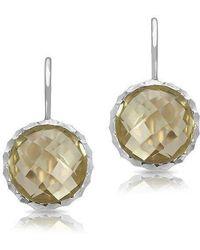 Anne Sisteron - 14kt White Gold Lemon Topaz Earrings - Lyst