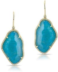 Anne Sisteron - 14kt Yellow Gold Blue Apatite Nuage Diamond Earrings - Lyst