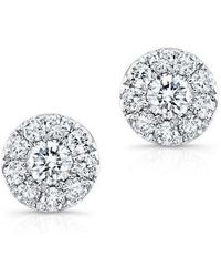 Anne Sisteron - 18kt White Gold Small Diamond Stud Earrings - Lyst