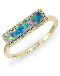 Anne Sisteron - 14kt Yellow Gold Opal Diamond Brick Ring - Lyst
