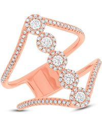 Anne Sisteron - 14kt Rose Gold Diamond Catherine Ring - Lyst