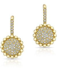 Anne Sisteron - 14kt Yellow Gold Diamond Scalloped Wireback Earrings - Lyst
