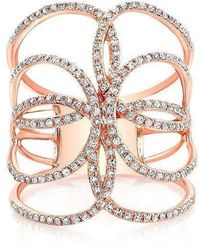 Anne Sisteron - 14kt White Gold Diamond Butterfly Ring - Lyst