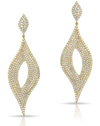 Anne Sisteron - 14kt Yellow Gold Diamond Masquerade Earrings - Lyst