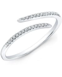 Anne Sisteron | 14kt White Gold Diamond Open Embrace Ring | Lyst