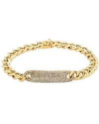Anne Sisteron - 14kt Yellow Gold Diamond Luxe Id Bracelet - Lyst
