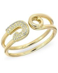 Anne Sisteron - 14kt Yellow Gold Safety Pin Wrap Diamond Ring - Lyst