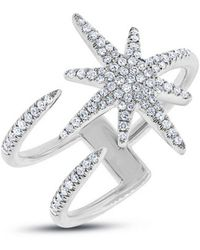Anne Sisteron - 14kt White Gold Diamond Star Wrap Ring - Lyst