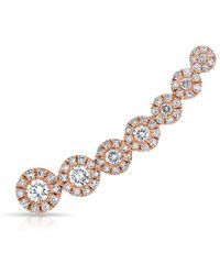 Anne Sisteron - 14kt Rose Gold Diamond Round Malia Ear Climber - Lyst