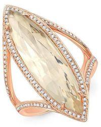 Anne Sisteron - 14kt Rose Gold Diamond Topaz Serena Ring - Lyst
