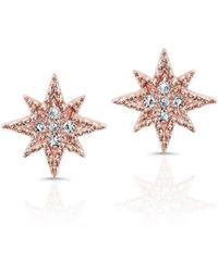 Anne Sisteron - 14kt Rose Gold Diamond North Star Stud Earrings - Lyst