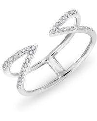 Anne Sisteron - 14kt White Gold Diamond Open Spike Ring - Lyst