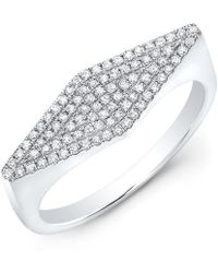 Anne Sisteron - 14kt White Gold Diamond Kite Ring - Lyst