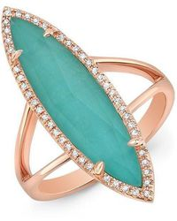 Anne Sisteron - 14kt Rose Gold Diamond Small Turquesa Ring - Lyst