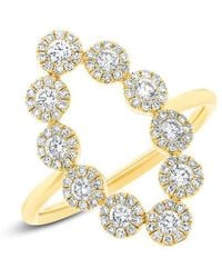Anne Sisteron - 14kt Yellow Gold Diamond Odessa Ring - Lyst